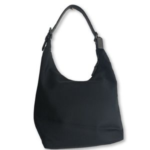 COACH Black Nylon Hobo Shoulder Bag